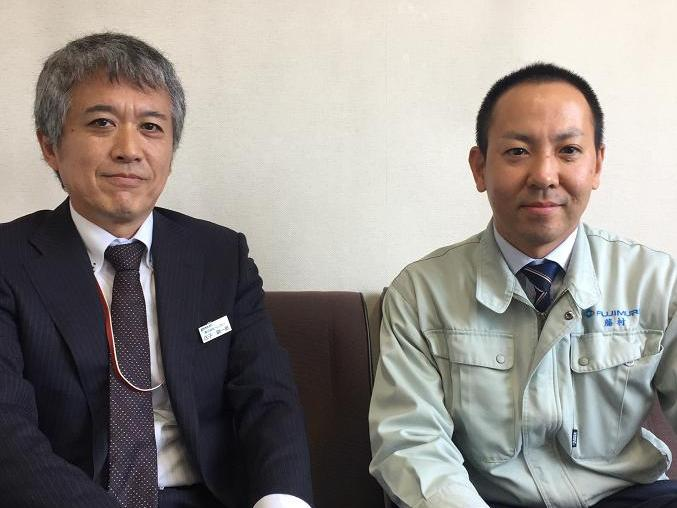 庄子(左)・藤村社長様(右)