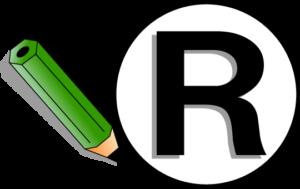 登録商標マーク(Rマーク)のイラスト